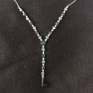 navy sky blue necklace